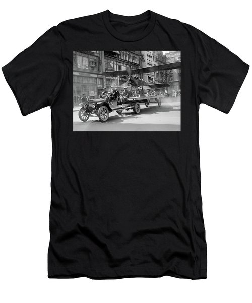 Parade Truck And Biplane Bw Men's T-Shirt (Athletic Fit)