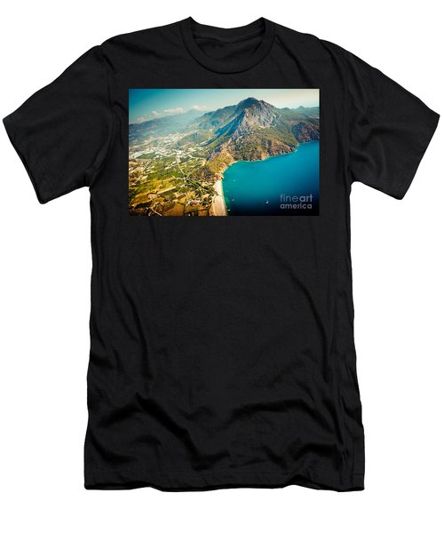 Paragliding Fly Above Laguna Artmif.lv Men's T-Shirt (Athletic Fit)