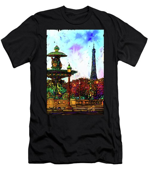 Paris Men's T-Shirt (Slim Fit) by DC Langer
