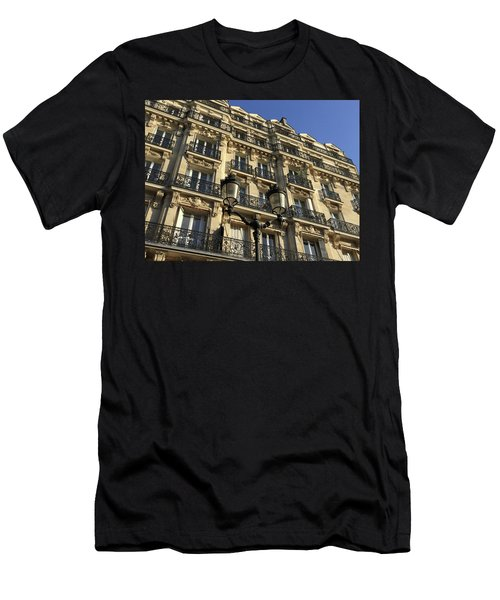 Men's T-Shirt (Athletic Fit) featuring the photograph Paris Facades by Frank DiMarco