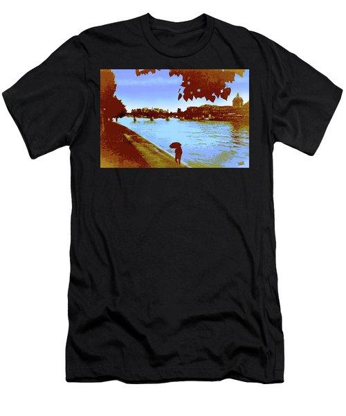 Paris In The Rain Men's T-Shirt (Athletic Fit)