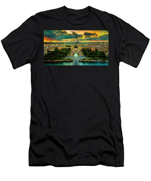 Paris Landscape Men's T-Shirt (Athletic Fit)