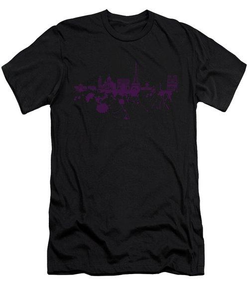 Paris Skyline.1 Men's T-Shirt (Athletic Fit)