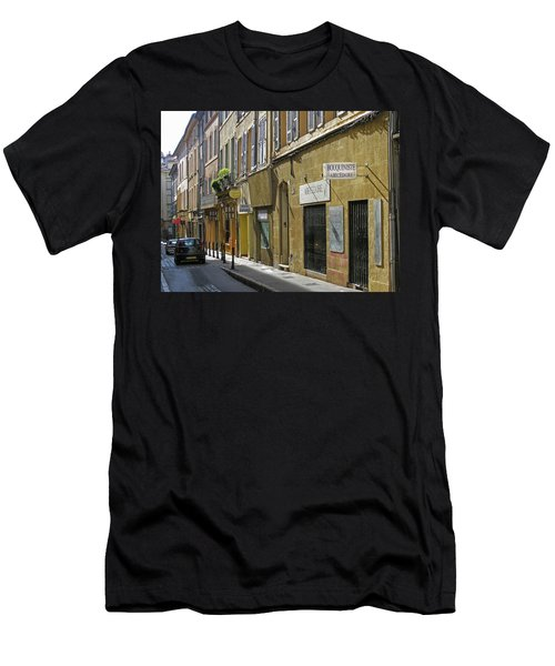 Paris Street Scene Men's T-Shirt (Slim Fit) by Jim Mathis