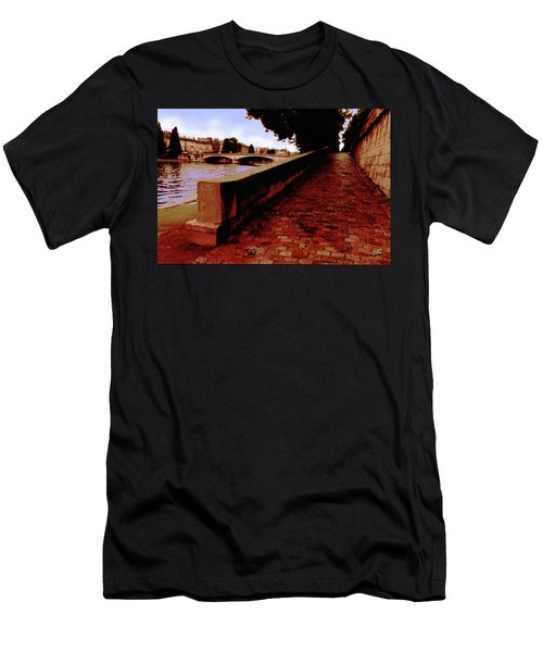 Paris - View Of The Seine Men's T-Shirt (Athletic Fit)