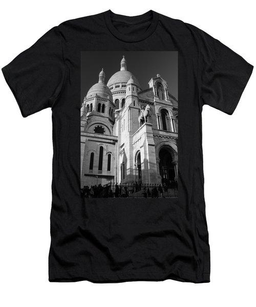 Paris Visit To Sacre Coeur Cathedral Men's T-Shirt (Athletic Fit)