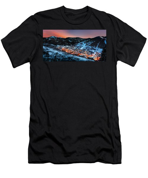 Park City Winter Sunset Men's T-Shirt (Athletic Fit)