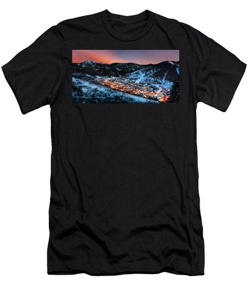 Park City Winter Sunset Men's T-Shirt (Athletic Fit)