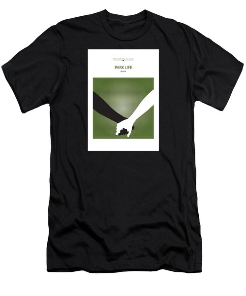 Men's T-Shirt (Slim Fit) featuring the drawing Park Life -- Blur by David Davies