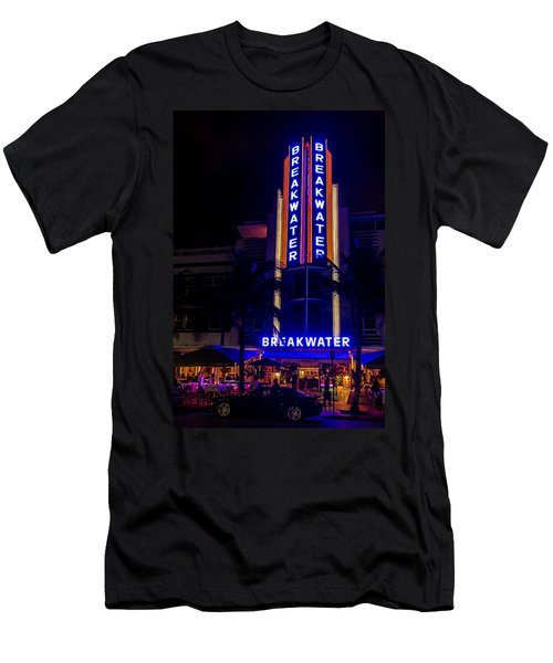 Men's T-Shirt (Athletic Fit) featuring the photograph Parked At The Breakwater by Melinda Ledsome