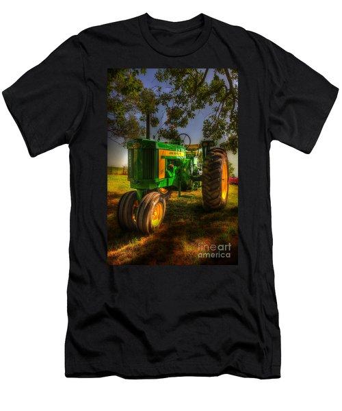 Parked John Deere Men's T-Shirt (Slim Fit) by Michael Eingle