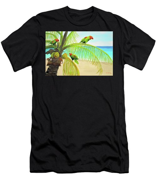 Parrot Beach Men's T-Shirt (Athletic Fit)