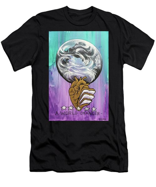 Men's T-Shirt (Athletic Fit) featuring the painting Partakers Of His Heart by Nathan Rhoads