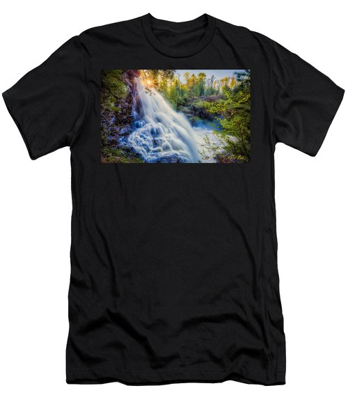 Partridge Falls In Late Afternoon Men's T-Shirt (Athletic Fit)