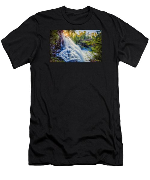Men's T-Shirt (Athletic Fit) featuring the photograph Partridge Falls In Late Afternoon by Rikk Flohr