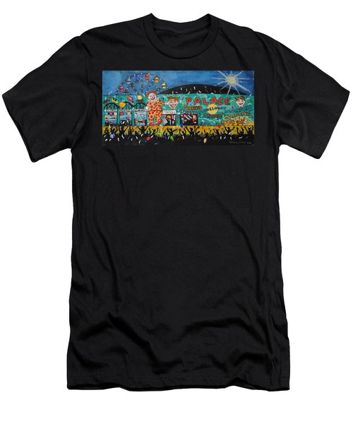 Party At The Palace Men's T-Shirt (Slim Fit) by Patricia Arroyo