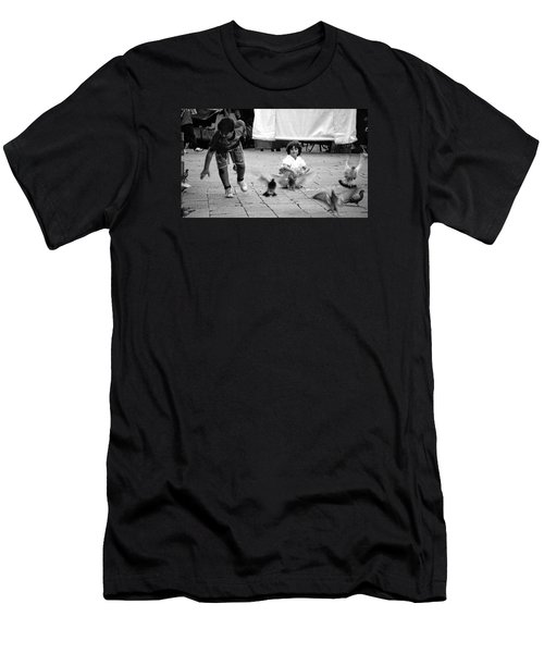 Party Crasher Men's T-Shirt (Slim Fit) by David Gilbert