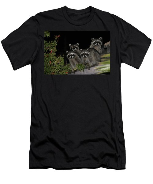 Party Of Five On The Roof Top Men's T-Shirt (Slim Fit) by Nina Prommer