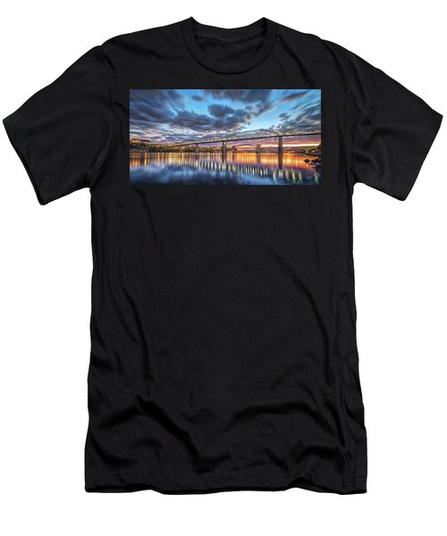 Passing Clouds Above Chattanooga Pano Men's T-Shirt (Athletic Fit)