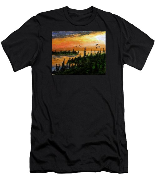 Passing The Rugged Shore Men's T-Shirt (Athletic Fit)