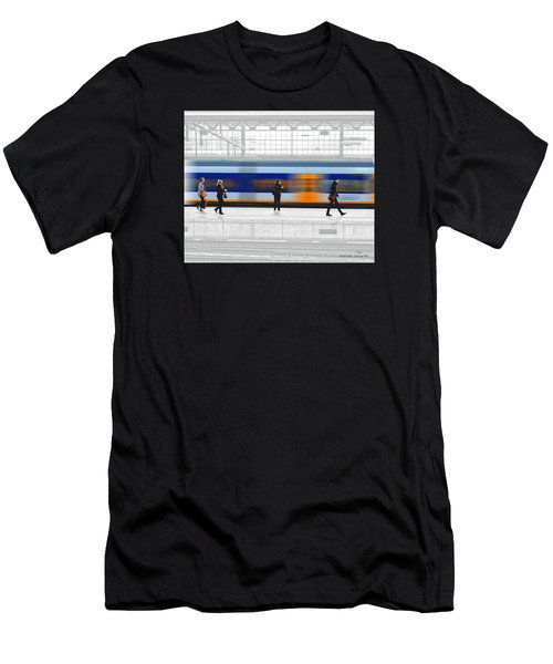 Passing Train Men's T-Shirt (Athletic Fit)