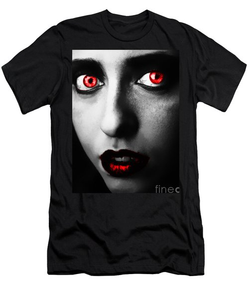 Men's T-Shirt (Slim Fit) featuring the painting Passion Glare by Tbone Oliver