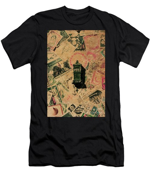 Past Letters In Post Men's T-Shirt (Athletic Fit)