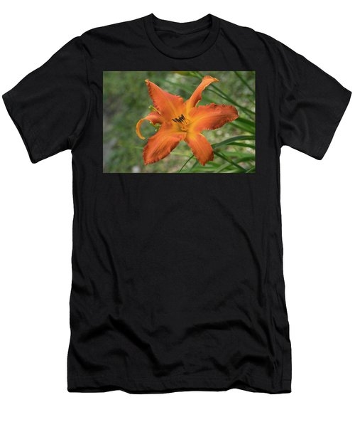 Pastel Orange Lily Men's T-Shirt (Athletic Fit)