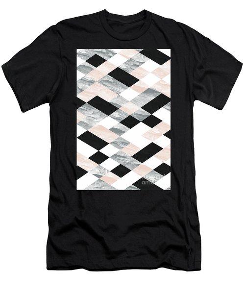 Pastel Scheme Geometry Men's T-Shirt (Athletic Fit)