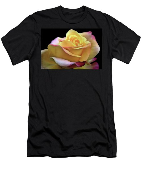 Pastel Yellow Rose Canvas Proofed Men's T-Shirt (Athletic Fit)