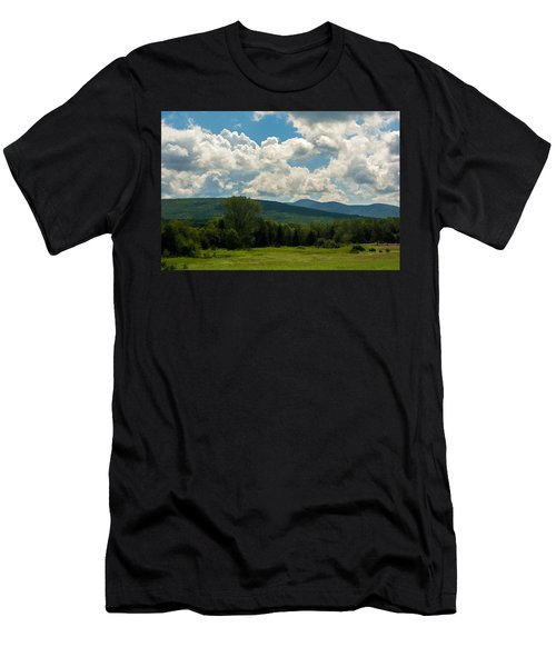 Pastoral Landscape With Mountains Men's T-Shirt (Athletic Fit)