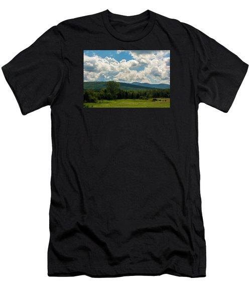 Pastoral Landscape With Mountains Men's T-Shirt (Athletic Fit)
