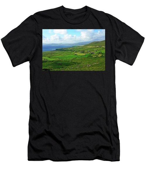 Men's T-Shirt (Athletic Fit) featuring the photograph Patchwork Landscape by Aidan Moran