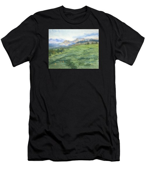 Patchwork Of Green Men's T-Shirt (Athletic Fit)
