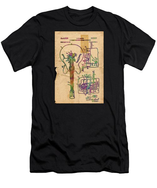 Patent Gibson Guitar Drawing Poster Print Men's T-Shirt (Athletic Fit)