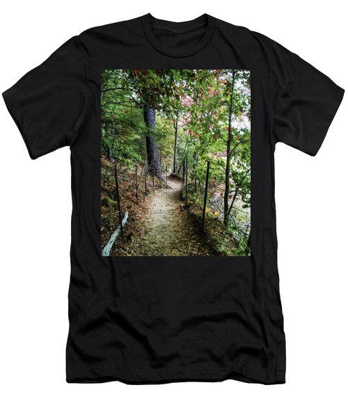 Path Along The Pond Men's T-Shirt (Athletic Fit)