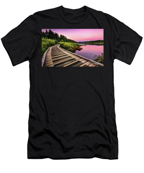 Path By The Lake Men's T-Shirt (Athletic Fit)