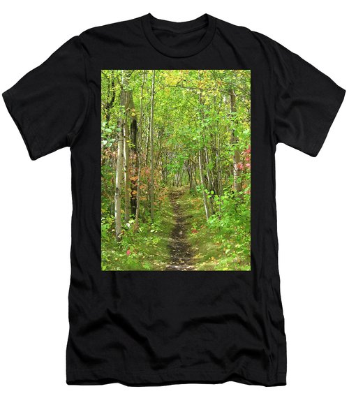 Path In The Woods Men's T-Shirt (Athletic Fit)