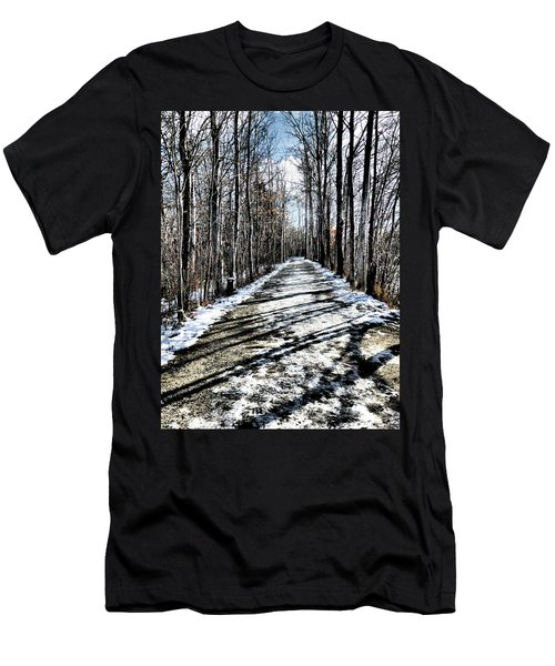 Path In Winter Men's T-Shirt (Athletic Fit)