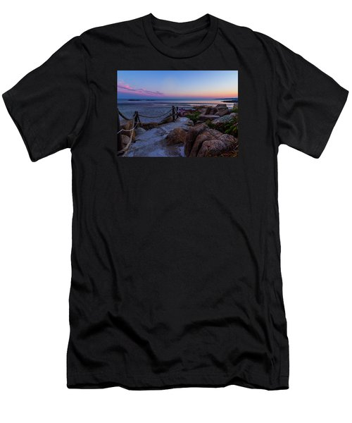 Path To The Beach Men's T-Shirt (Slim Fit) by Tim Kirchoff