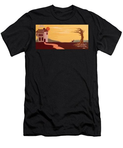 Cartoon Castle Men's T-Shirt (Athletic Fit)