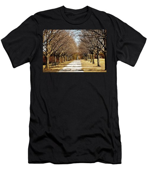 Pathway Through Trees Men's T-Shirt (Athletic Fit)