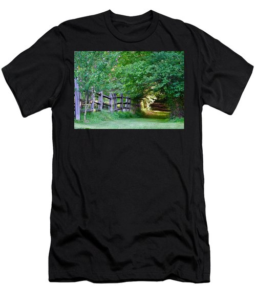 Pathway To A Sunny Summer Morning  Men's T-Shirt (Athletic Fit)