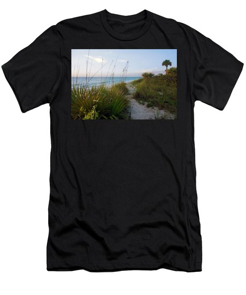 Pathway To Barefoot Beach  In Naples Men's T-Shirt (Athletic Fit)