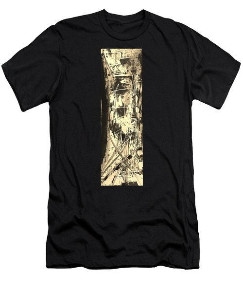Men's T-Shirt (Slim Fit) featuring the painting Patience by Carol Rashawnna Williams