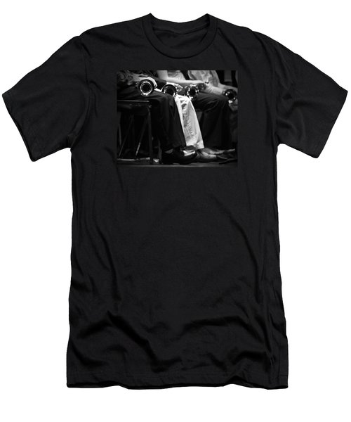 Men's T-Shirt (Slim Fit) featuring the photograph Patiently Waiting... by Trish Mistric