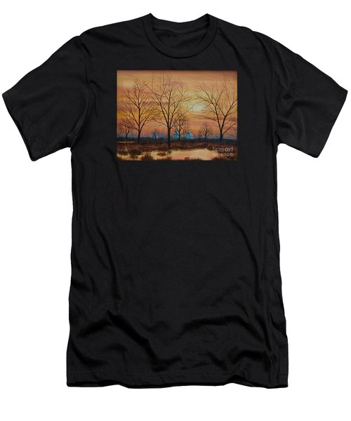 Patomac River Sunset Men's T-Shirt (Athletic Fit)