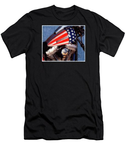Live To Ride Men's T-Shirt (Slim Fit) by Colleen Taylor