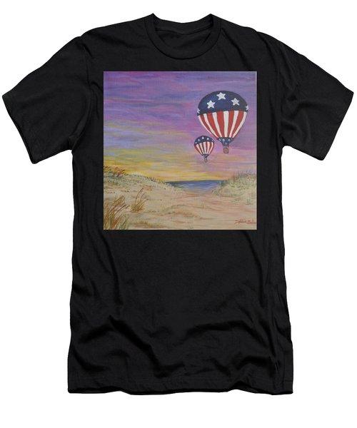 Patriotic Balloons Men's T-Shirt (Athletic Fit)