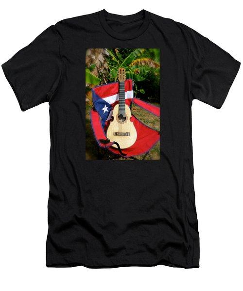 Patriotic Cuatro Men's T-Shirt (Slim Fit) by The Art of Alice Terrill